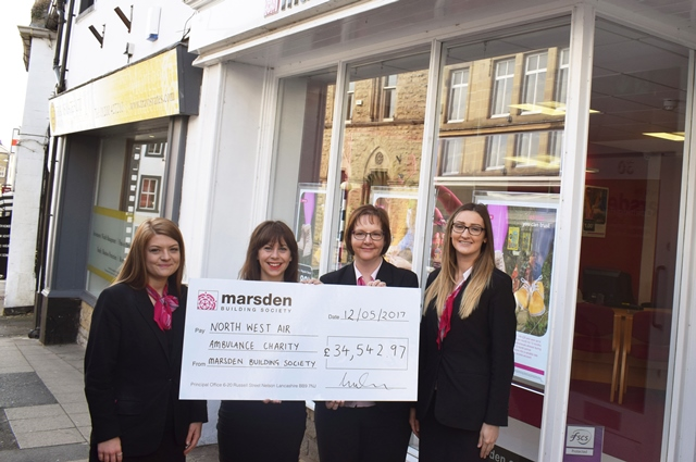 Marsden presents their affinity donation cheque