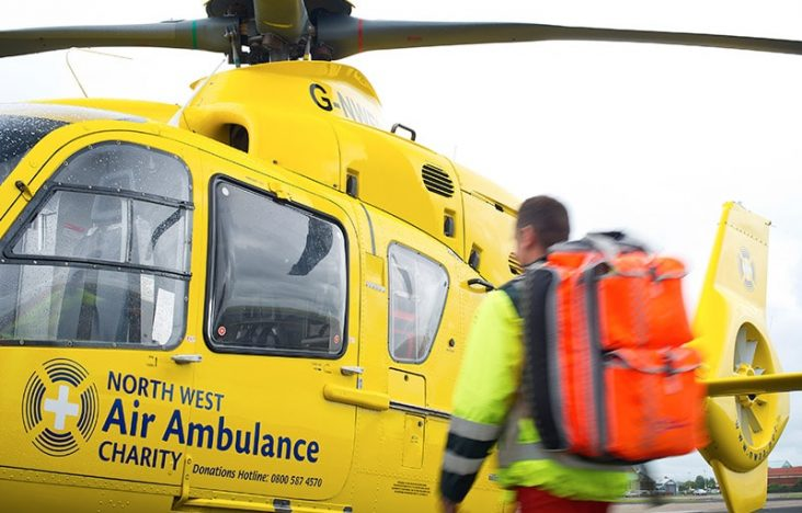 Marsden donates £17,337.83 to North West Air Ambulance