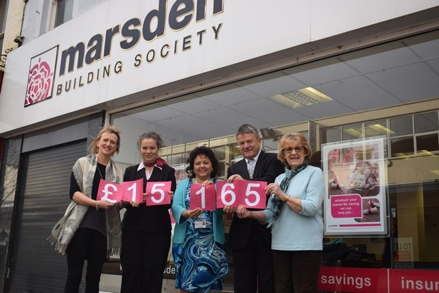 Marsden presents their affinity donation to Pendleside Hospice