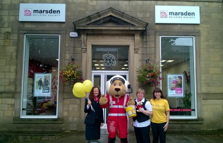 Marsden Building Society raises £500 for North West Air Ambulance Awareness Week