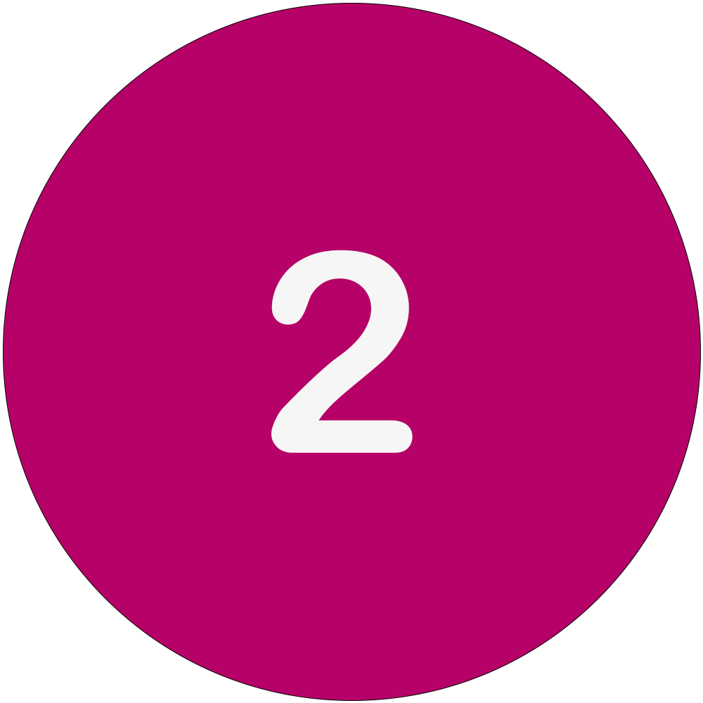 Magenta circle with a white number 2 in the middle.