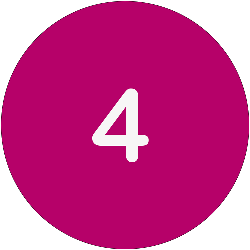 Magenta circle with a white number 4 in the middle.